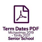 Term Dates Senior 2019 2021