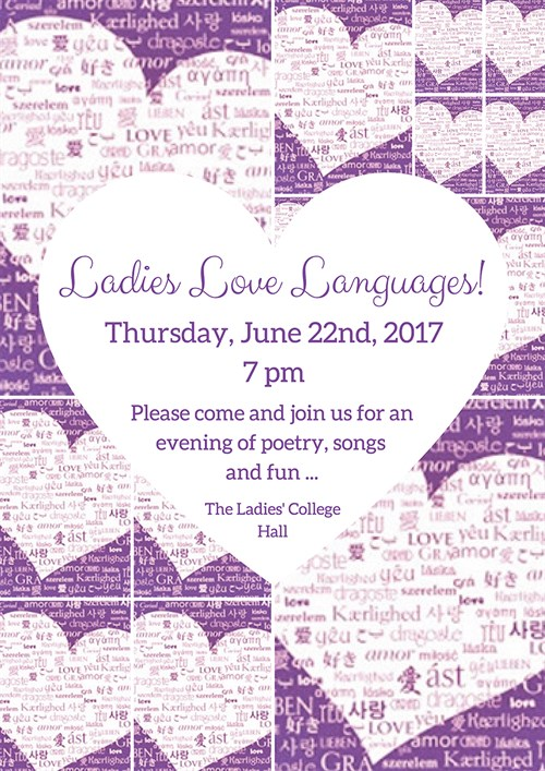 Ladies Love Languages 17Th May 2017