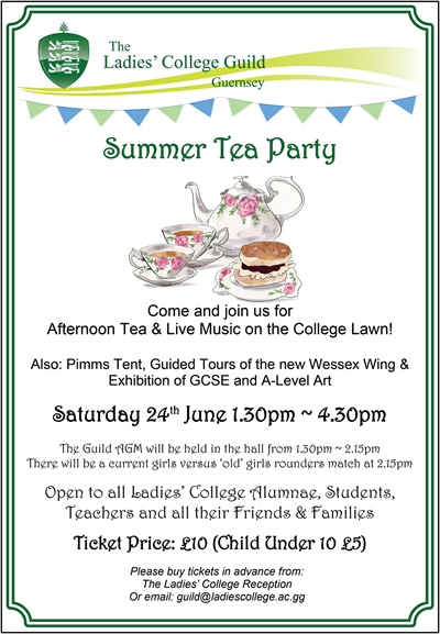 Tea Party And AGM June 2017 Poster