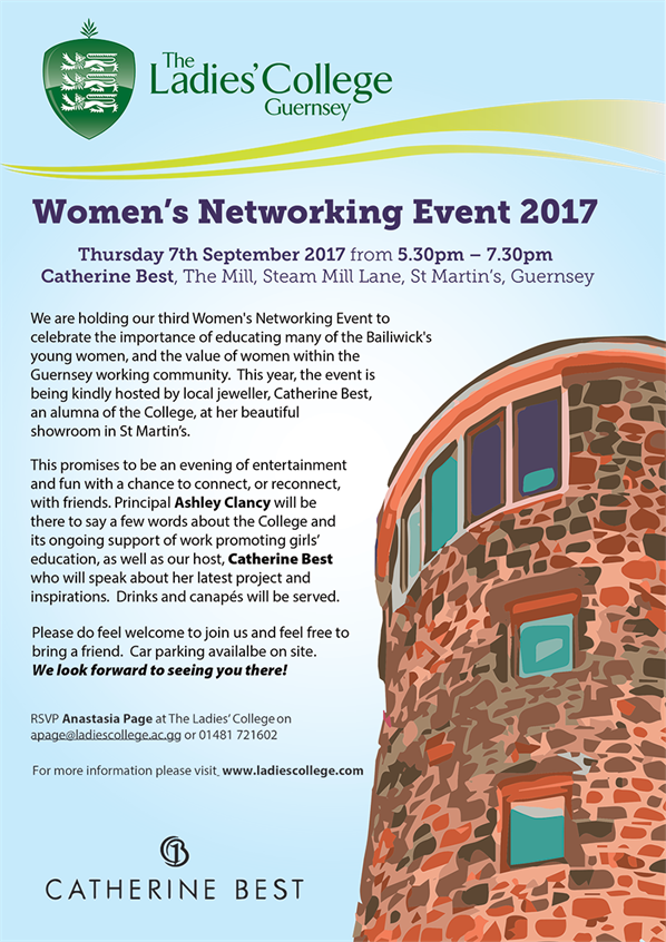 Womens Networking Event Poster Portrait