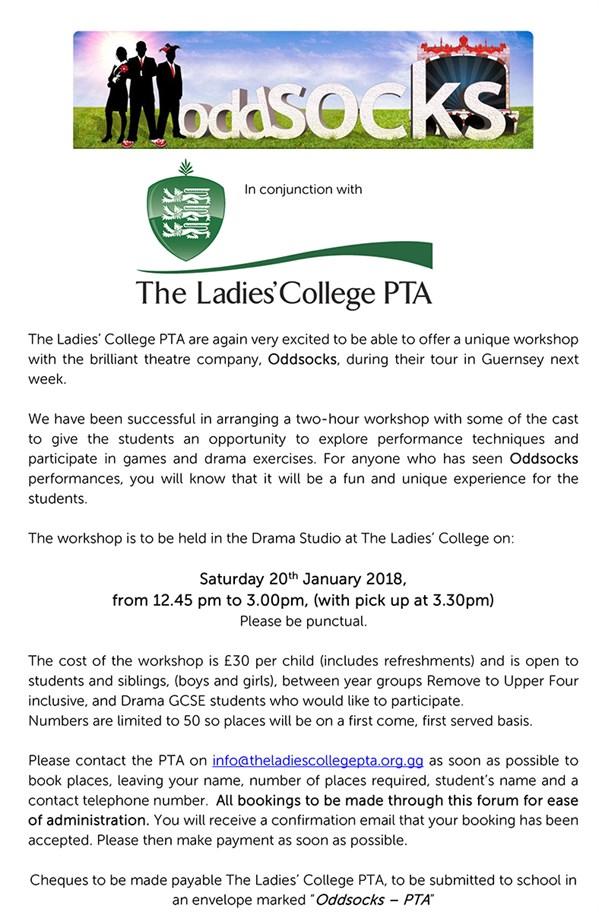 PTA Oddsocks Drama Workshop | The Ladies College, Guernsey