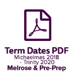 Term Dates Melrose 2018 2020